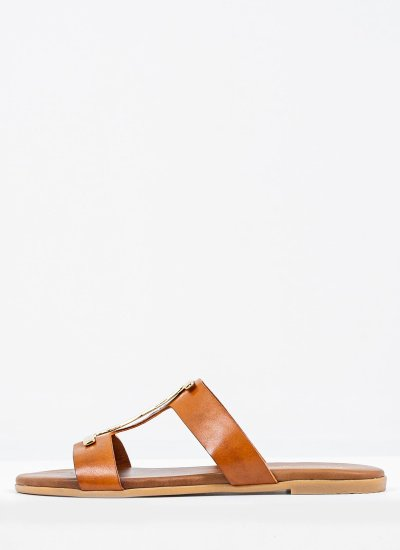 Women Flat Sandals 1013 Tabba Leather Mortoglou