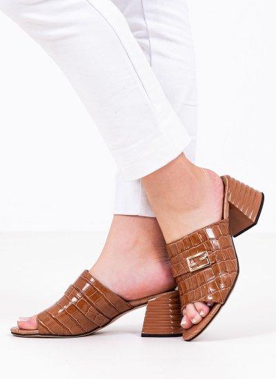 Women Mules 116907 Tabba Leather Mortoglou