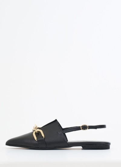 Women Mules 17.6 Black Leather Mortoglou