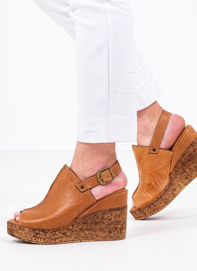 Women Platforms High 20615 Tabba Leather Mortoglou