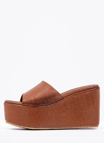 Women Platforms High 8000 Tabba Leather Mortoglou