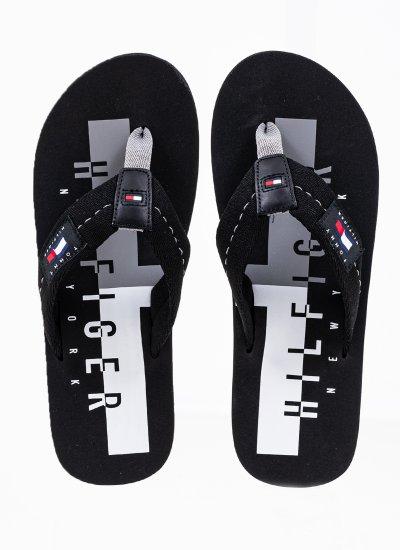 Men Flip Flops & Sandals Badge.Sandal Black Tommy Hilfiger