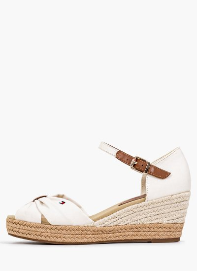 Women Platforms Low Basic.Open Ivory Tommy Hilfiger
