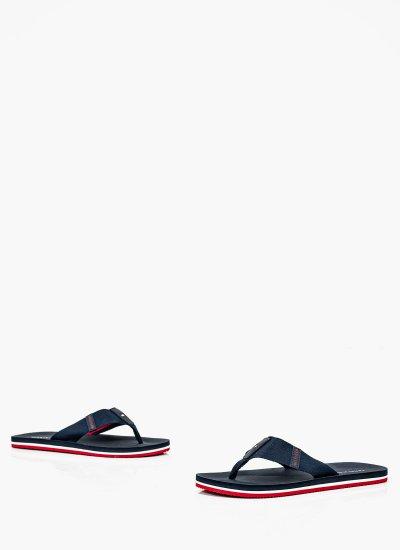 Men Flip Flops & Sandals Comfort.Sandal Blue Tommy Hilfiger