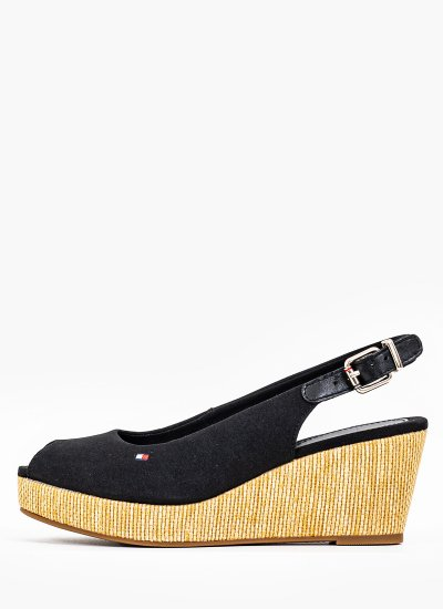 Women Platforms Low Elba.Wedge Black Tommy Hilfiger
