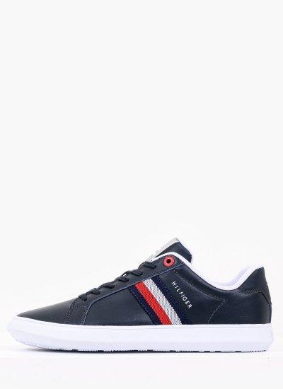 Men Casual Shoes Essen.Cup Blue Leather Tommy Hilfiger