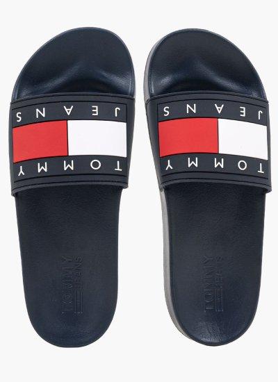 Men Flip Flops & Sandals Flag.Slide Blue Rubber Tommy Hilfiger