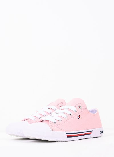 Kids Casual Shoes Lace.Up.P Pink Fabric Tommy Hilfiger