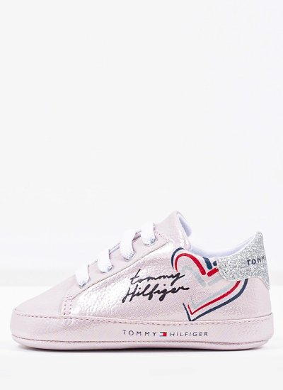 Kids Casual Shoes LaceUp.A Nude Eco-Leather Tommy Hilfiger