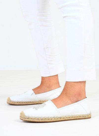 Women Espadrilles Lea.Espadrille White Leather Tommy Hilfiger