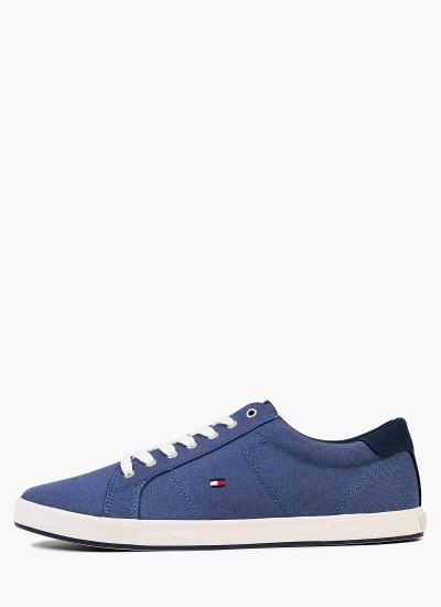 Men Casual Shoes Long.Lace Blue Fabric Tommy Hilfiger