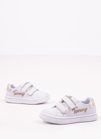 Kids Casual Shoes Sneaker.Cut White Eco-Leather Tommy Hilfiger