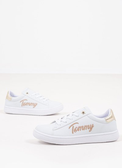Kids Casual Shoes Sneaker.W White Eco-Leather Tommy Hilfiger