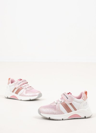Kids Casual Shoes Velcro.P Pink Eco-Leather Tommy Hilfiger