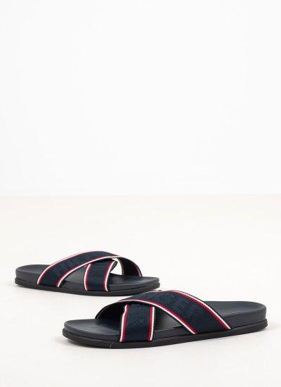 Men Flip Flops & Sandals Webbing Blue Tommy Hilfiger