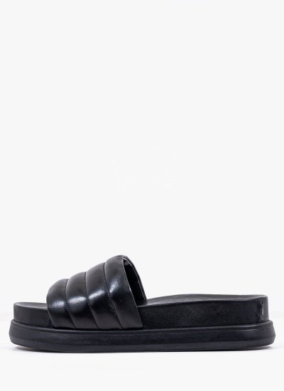 Women Platforms Low 2126.11496 Black Leather MF
