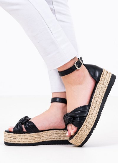 Women Platforms Low 2129.10540 Black Leather MF