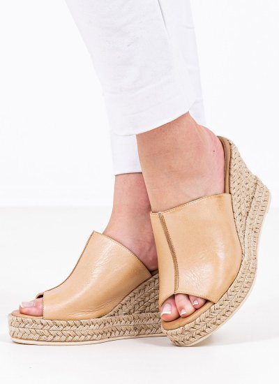 Women Platforms High 2134.60151 Beige Leather MF