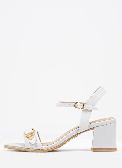 Women Sandals Low 28010 White Leather Tamaris