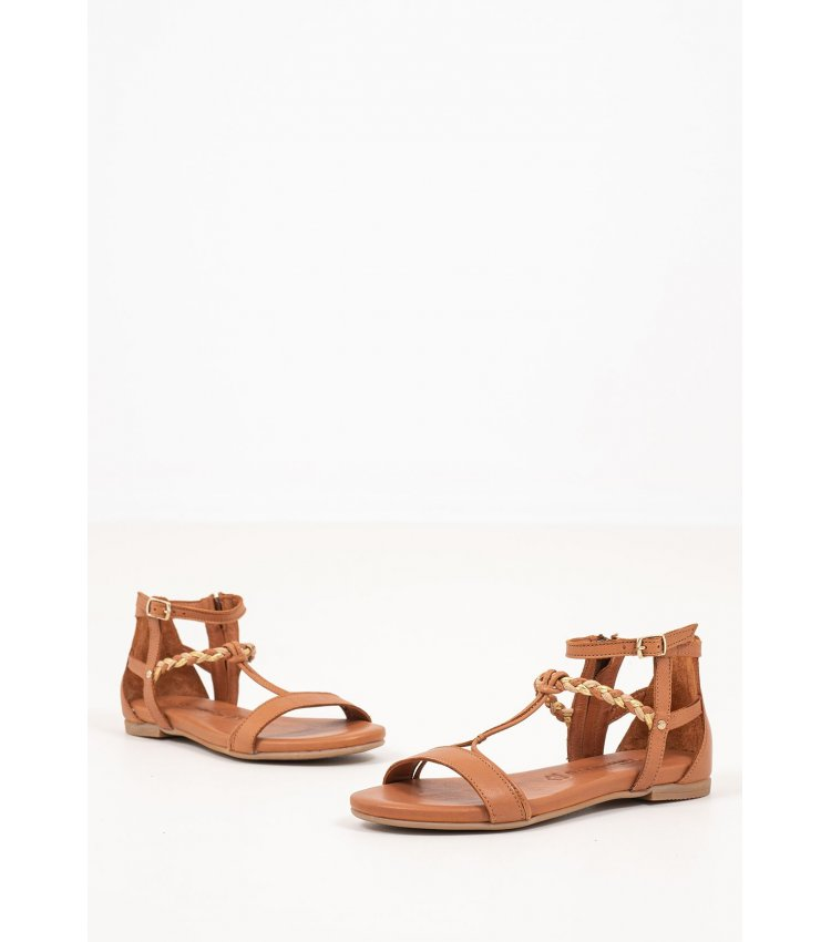 Women Flat Sandals 28043 Tabba Leather Tamaris