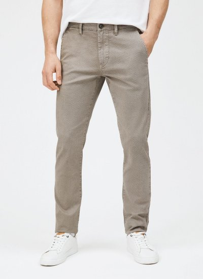 Men Pants Charly Beige Cotton Pepe Jeans