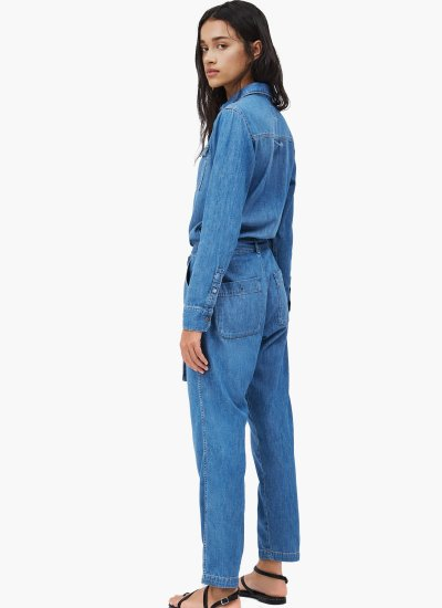 Chleo Blue Cotton Pepe Jeans