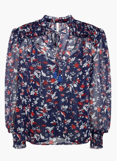 Women T-Shirts - Tops Emilia.Floral Multi Polyester Pepe Jeans