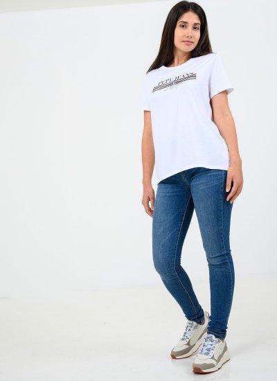 Women T-Shirts - Tops Emilia White Cotton Pepe Jeans