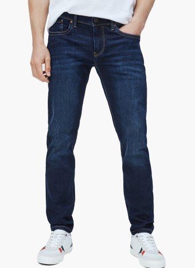 Men Pants Hatch DarkBlue Cotton Pepe Jeans