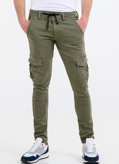 Men Pants Jared Green Cotton Pepe Jeans