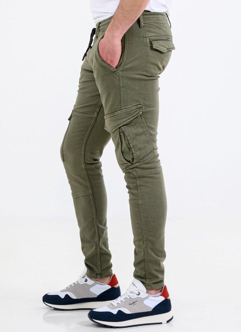 Men Pants From The Pepe Jeans Brand Jared Green Cotton Mortoglou Gr Eshop