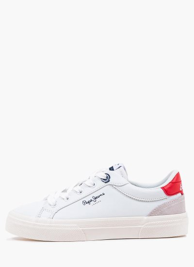Kids Casual Shoes Kenton White Eco-Leather Pepe Jeans