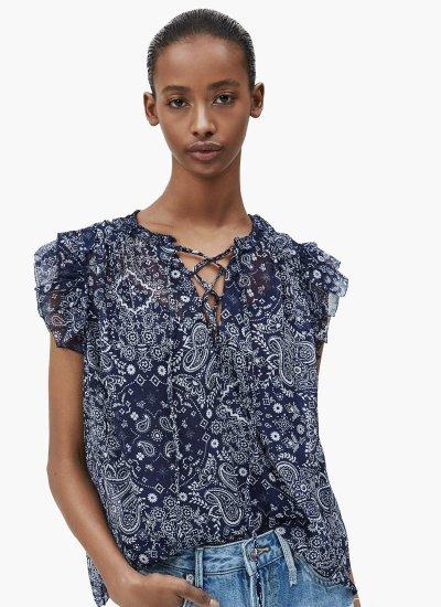 Women Shirts Letizias Blue Polyester Pepe Jeans