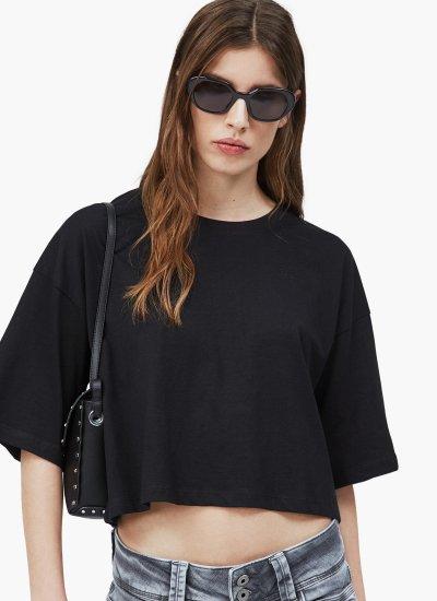 Women T-Shirts - Tops Miriam Black Cotton Pepe Jeans