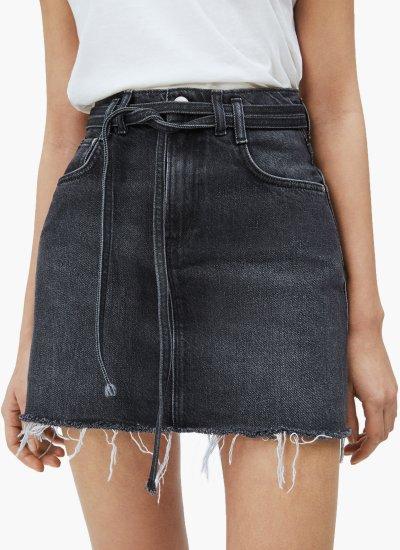 Women Skirts - Shorts Rachel.Belt Black Cotton Pepe Jeans