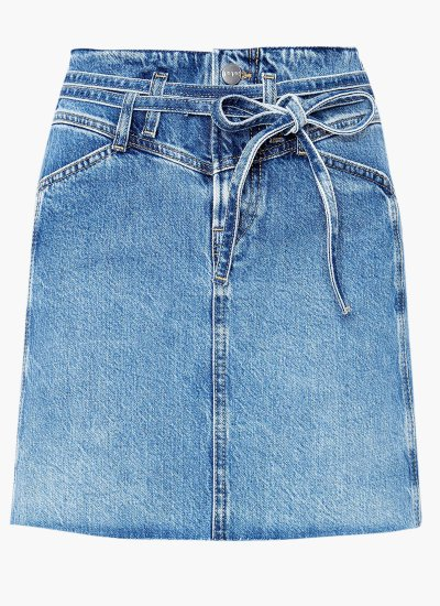 Women Skirts - Shorts Raisa Blue Cotton Pepe Jeans