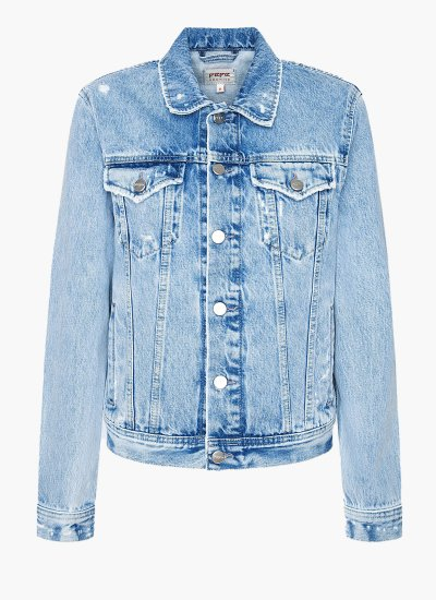 Women Coats - Jackets Rose.Jackect LightBlue Cotton Pepe Jeans
