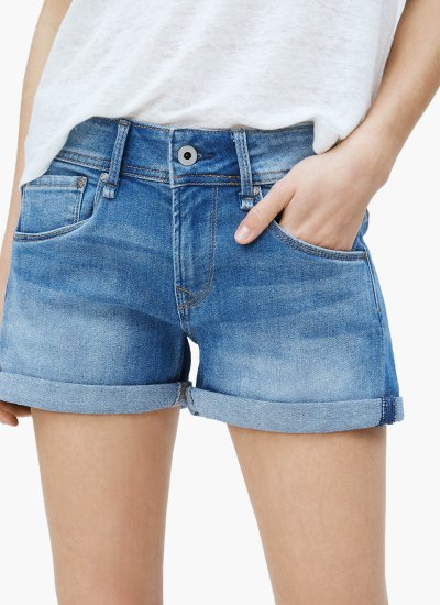Women Skirts - Shorts Siouxie Blue Cotton Pepe Jeans