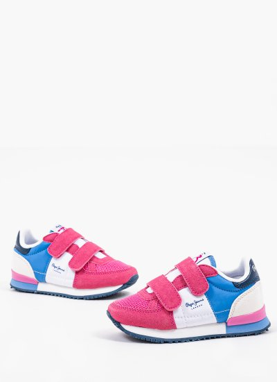 Kids Casual Shoes Sydney.Girl Pink Eco-Suede Pepe Jeans
