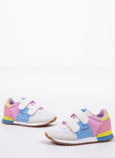 Kids Casual Shoes Sydney.Girl Multi Eco-Suede Pepe Jeans