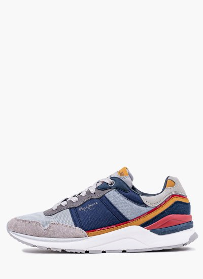 Men Casual Shoes X20.Basic Grey Eco-Suede Pepe Jeans