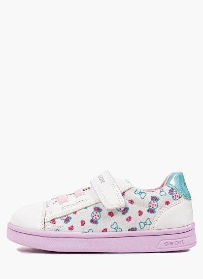 Kids Casual Shoes B151WA White Eco-Leather Geox