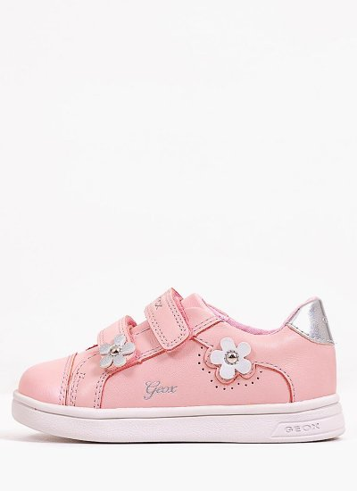 Kids Casual Shoes B151WC Pink Leather Geox