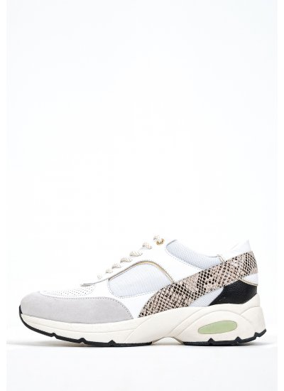 Women Casual Shoes Alhour.A White Leather Geox