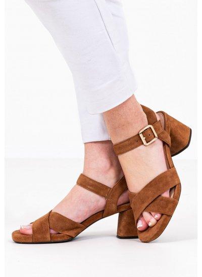 Women Sandals Low Genziana.M Tabba Suede Leather Geox
