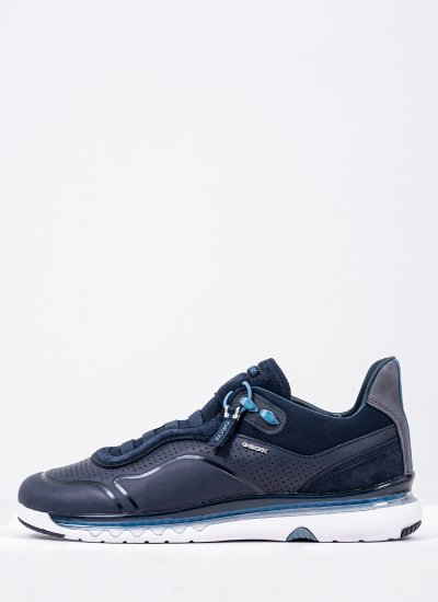 Men Casual Shoes Levita.A Blue Leather Geox