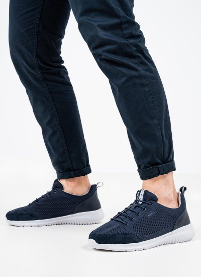 Men Casual Shoes Monreale.B Blue Geox