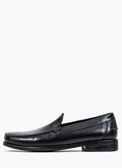 Men Moccasins New.Damon Black Leather Geox