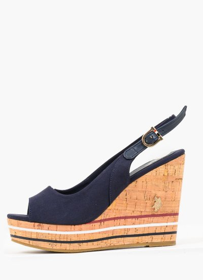 Women Platforms High Aylin137 Blue U.S. Polo Assn.