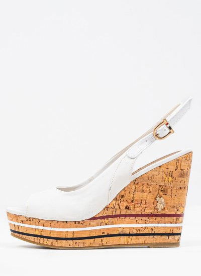 Women Platforms High Aylin137 White U.S. Polo Assn.